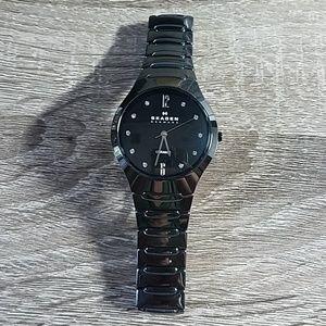 Skagen Black Ceramic Watch